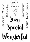 Woodware - Celebrating You - Clear Magic Stamp Set - FRS630